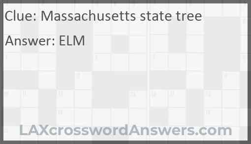 Massachusetts state tree Answer