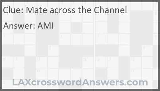 Mate across the Channel Answer