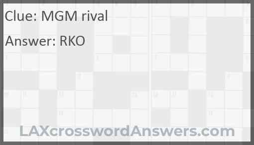 MGM rival Answer