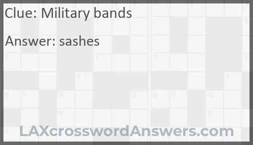Military bands Answer