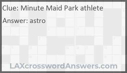 Minute Maid Park athlete Answer