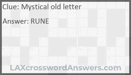 Mystical old letter Answer