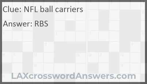 NFL ball carriers Answer