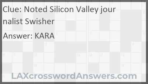 Noted Silicon Valley journalist Swisher Answer