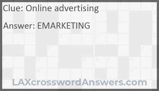 Online advertising Answer