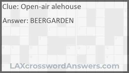 Open-air alehouse Answer