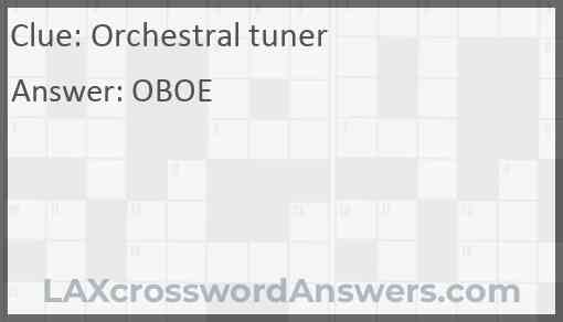 Orchestral tuner Answer