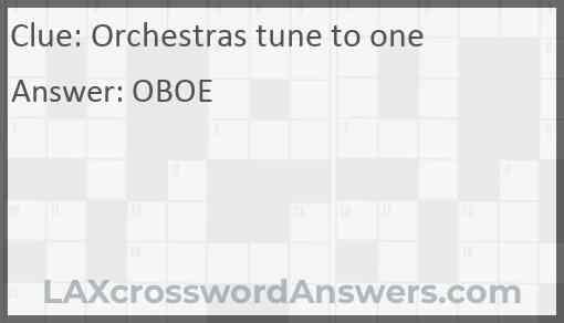 Orchestras tune to one Answer