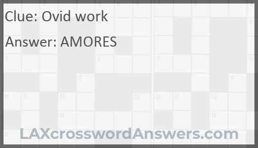 Ovid work Answer