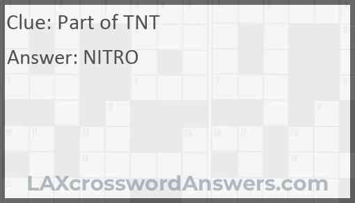 Part of TNT Answer