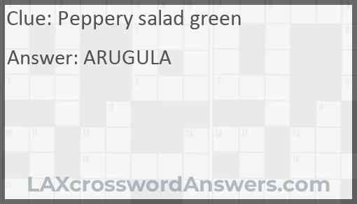 Peppery salad green Answer