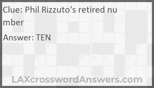 Phil Rizzuto's retired number Answer