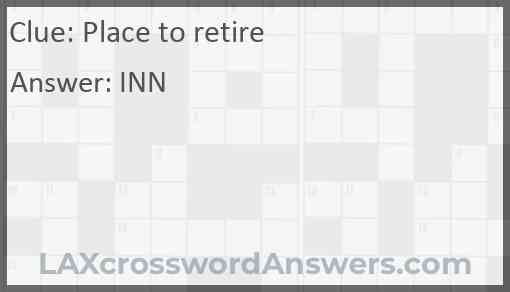Place to retire Answer