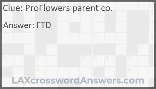 ProFlowers parent co. Answer