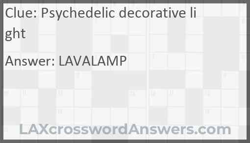 Psychedelic decorative light Answer