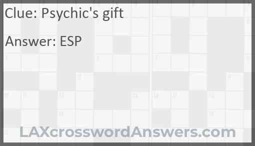 Psychic's gift Answer