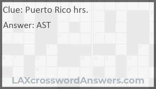 Puerto Rico hrs. Answer