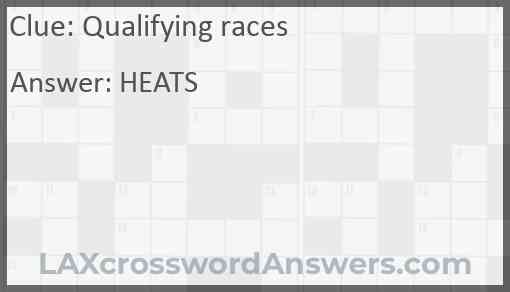 Qualifying races Answer