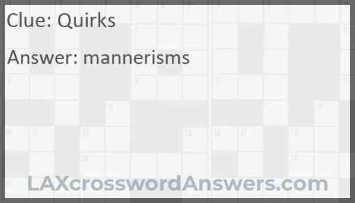 Quirks Answer