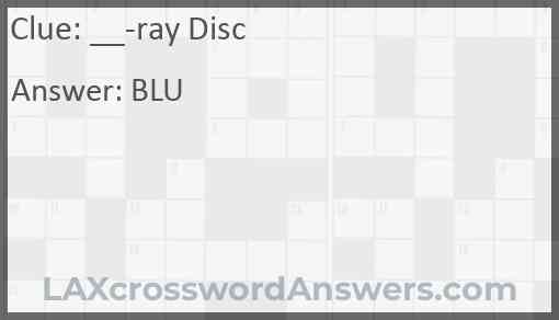 __-ray Disc Answer