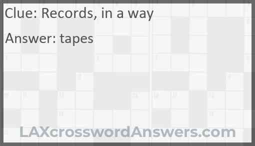 Records, in a way Answer