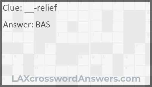 __-relief Answer