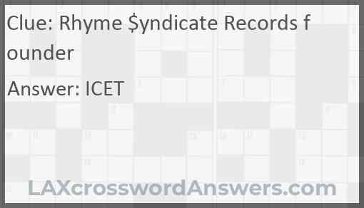 Rhyme $yndicate Records founder Answer