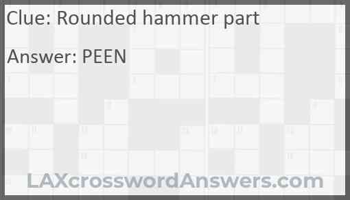 Rounded hammer part Answer