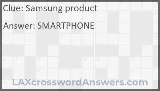 Samsung product Answer
