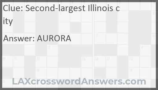 Second-largest Illinois city Answer