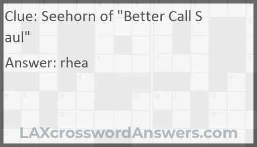 "Seehorn of ""Better Call Saul"" Answer"