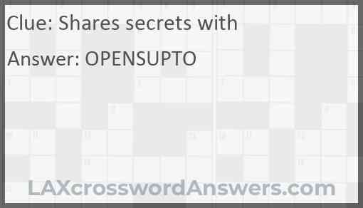 Shares secrets with Answer