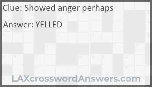 Showed anger perhaps Answer