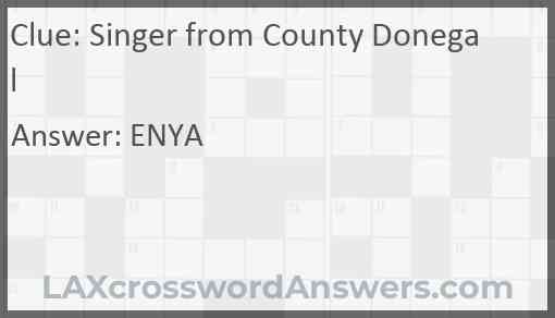 Singer from County Donegal Answer