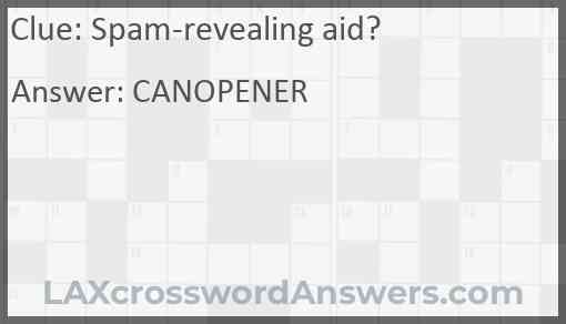 Spam-revealing aid? Answer