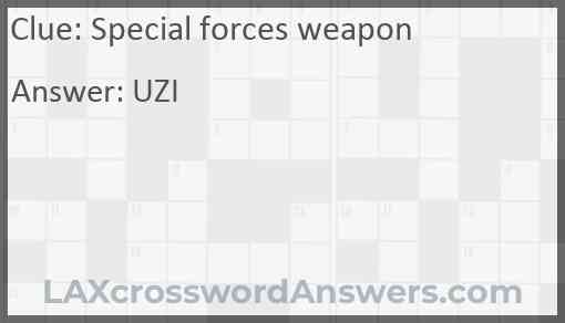 Special forces weapon Answer