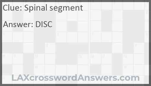 Spinal segment Answer