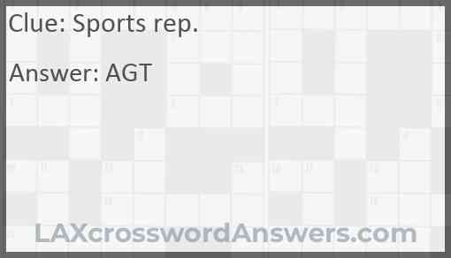 Sports rep. Answer