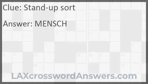 Stand-up sort Answer
