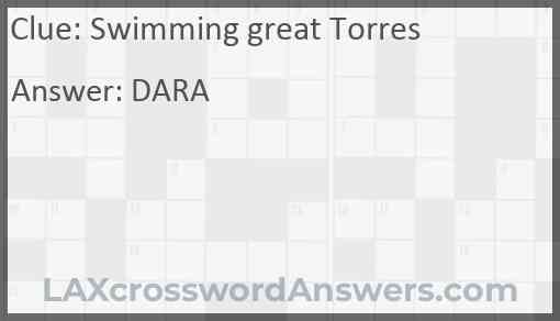 Swimming great Torres Answer