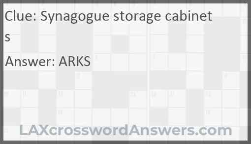 Synagogue storage cabinets Answer