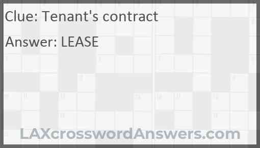 Tenant's contract Answer