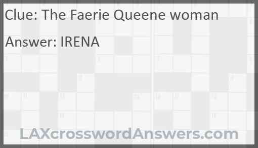 The Faerie Queene woman Answer