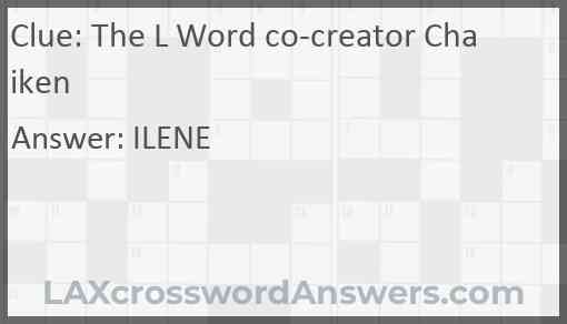 The L Word co-creator Chaiken Answer