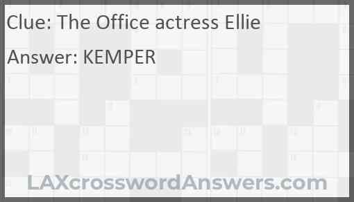 The Office actress Ellie Answer