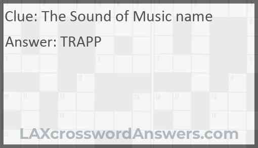 The Sound of Music name Answer