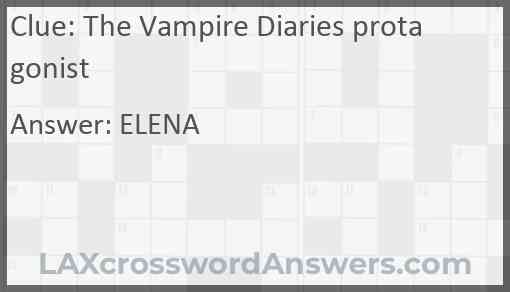 The Vampire Diaries protagonist Answer