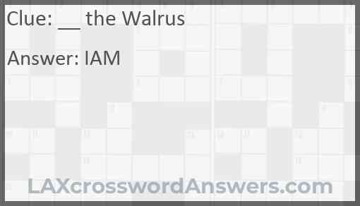 __ the Walrus Answer