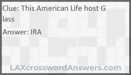 This American Life host Glass Answer