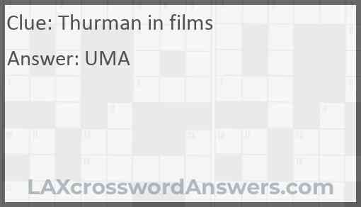 Thurman in films Answer